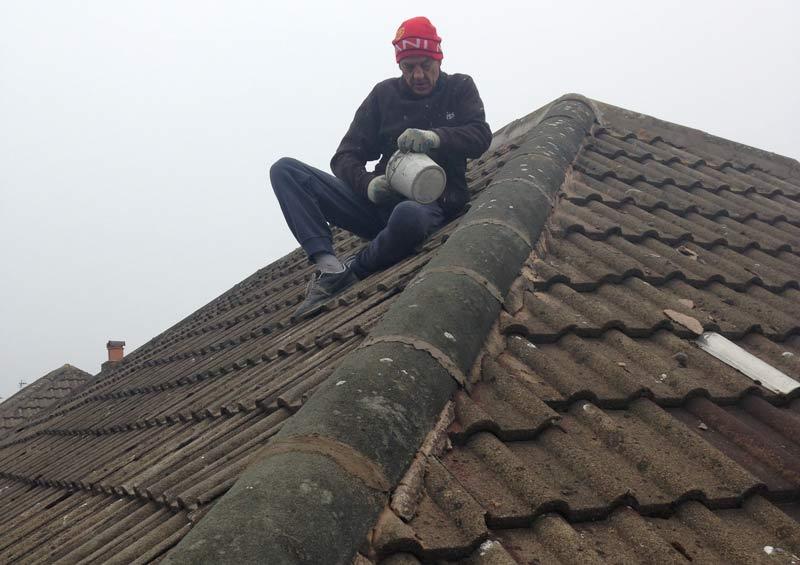 ridge tile re point